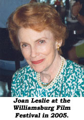 Joan Leslie at the Williamsburg Film Festival in 2005.