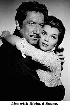 Lisa with Richard Boone.