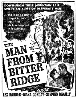 "Ad for ""The Man from Bitter Ridge""."
