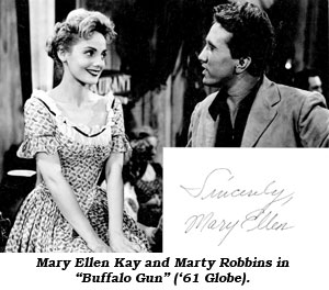 "Mary Ellen Kay and Marty Robbins in ""Buffalo Guns""."