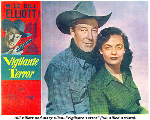 "Bill Elliott and Mary Ellen--""Vigilante Terror"" ('53 Allied Artists)."