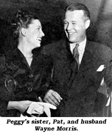 Peggy's sister, Pat, with husband Wayne Morris.