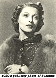1930's publicity photo of Suzanne Kaaren.