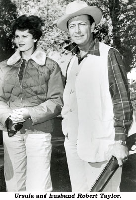 Ursula and husband Robert Taylor