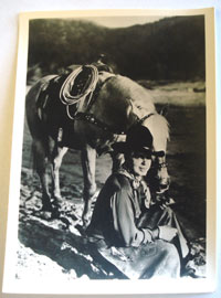 "Hoot Gibson with his horse 5 x 7"" photo. These were Hoot's personal pictures he autographed and sent out to fans. From the Gibson estate."
