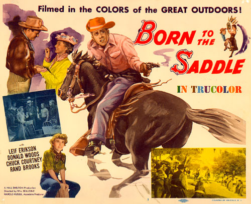 "Title card for ""Born to the Saddle""."