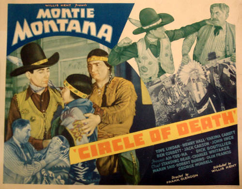 "Half sheet movie poster for Montie Montana in ""Circle of Death""."