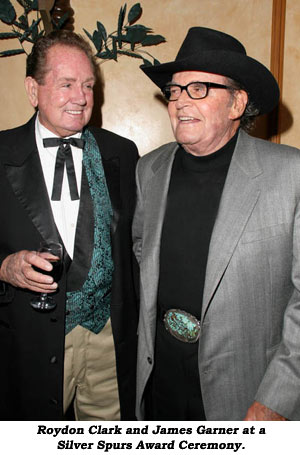 Roydon Clark and James Garner at a Silver Spurs Award Ceremony.