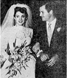 Wedding picture. Suzan and Richard Long were married April 4, 1954.