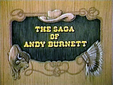 """The Saga of Andy Burnett"" logo."