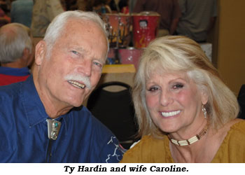 Ty Hardin and wife Caroline.