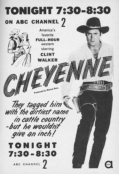 "TV GUIDE ad for ""Cheyenne""."