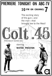 "TV GUIDE ad for ""Colt .45""."
