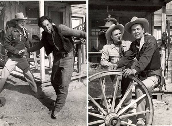 "Two photos from Russell Hayden's personal collection. One-Russell fights with badguy from ""Cowboy G-Men"". Two Russell and Jackie Coogan from ""Cowboy G-Men""."