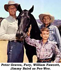 Peter Graves, Fury, William Fawcett, Jimmy Baird as Pee-Wee.