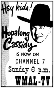 "Ad from TV GUIDE for ""Hopalong Cassidy"" TV show."