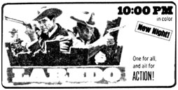 Laredo TV Guide ad.