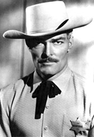 "John Russell as ""The Lawman""."