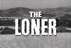 "TV logo for ""The Loner""."
