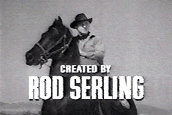 "Onscreen image of Lloyd Bridges on horse. Credit reads ""Created by Rod Serling""."