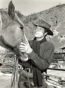 Robert Horton with horse.