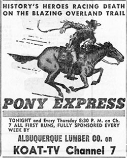 Newspaper ad for Pony Express.