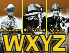 "Ad for ""The Lone Ranger"", ""The Green Hornet"" and ""Sgt. Prseston of the Yukon"" on WXYZ radio."