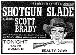 "TV GUIDE ad for ""Shotgun Slade""."