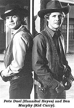 Pete Duel (Hannibal Heyes) and Ben Murphy (Kid Curry).
