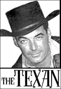 "Rory Calhoun as ""The Texan""."
