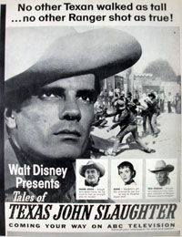 "TV GUIDE ad for ""Texas John Slaughter""."