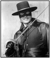 Guy Williams as Zorro.