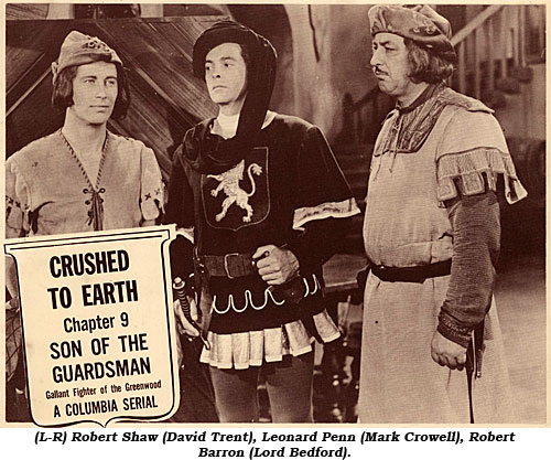 (L-R) Robert Shaw (David Trent), Leonard Penn (Mark Crowell), Robert Barron (Lord Bedford.)
