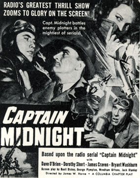 """Captain Midnight"" poster."