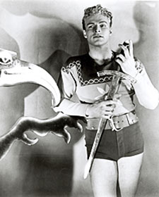 Buster Crabbe as Flash Gordon.