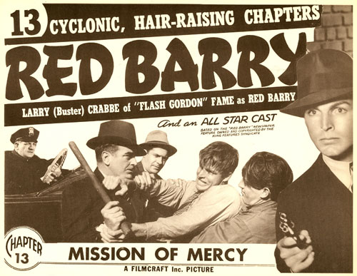 "Title card for Chapter 13 of ""Red Barry""."