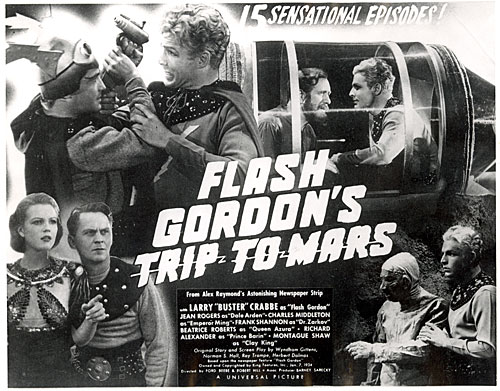 "Title card for ""Flash Gordon's Trip to Mars""."