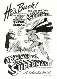 Ad for Atom Man Vs. Superman.