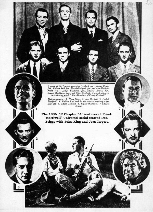 "The young athletes of ""The Adventures of Frank Merriwell""."