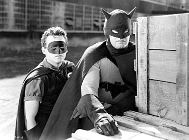 Johnny Duncan and Robert Lowery as Batman and Robin.
