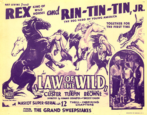 """Law of the Wild"" title card."