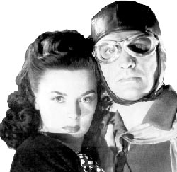 "Marguerite Chapman and Kane Richmond  in ""Spy Smasher""."