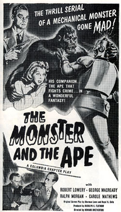 """The Monster and the Ape"" serial poster."