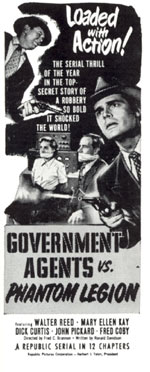 "Ad for ""Government Agents vs. Phantom Legion""."
