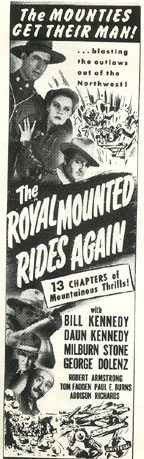 "The Royal Mounted Rides Again"" poster."