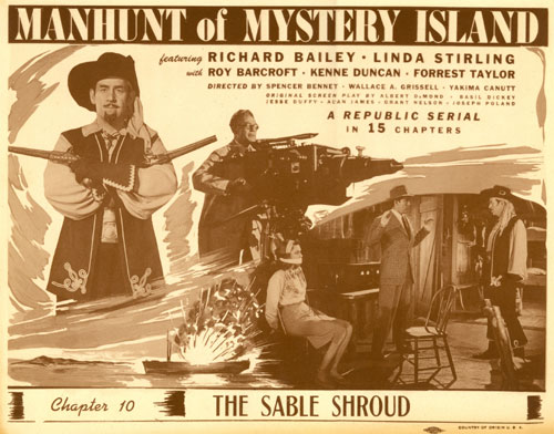 "Title Card for ""Manhunt of Mystery Island""."