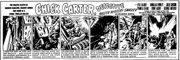 Chick Carter, Detective newspaper comic strip.