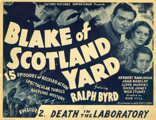"Title card for ""Blake of Scotland Yard""."