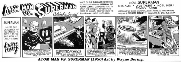 Atom Man Vs. Superman (1950) Art by Wayne Boring.