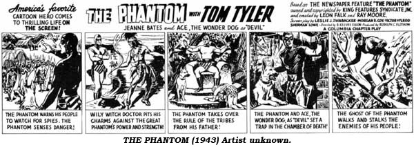 The Phantom (1943) Artist unknown.